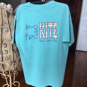 Comfort Colors Sorority Shirt Theta medium NWOT